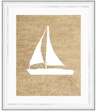 PTM Sailboat Framed Graphic Art