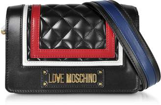 Love Moschino Medium Color Block Quilted Eco-Leather Shoulder Bag