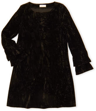 Design History Girls 7-16) Black Velvet Long Sleeve Dress