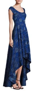 Laundry by Shelli Segal PLATINUM Jacquard Hi-Lo Gown $795 thestylecure.com