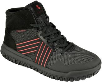 Black & Red Blast Hi-Top Sneaker - Men $40 thestylecure.com