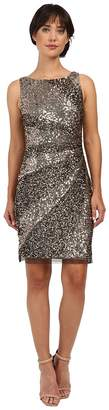 Adrianna Papell Sleeveless Beaded Cocktail Dress Women's Dress