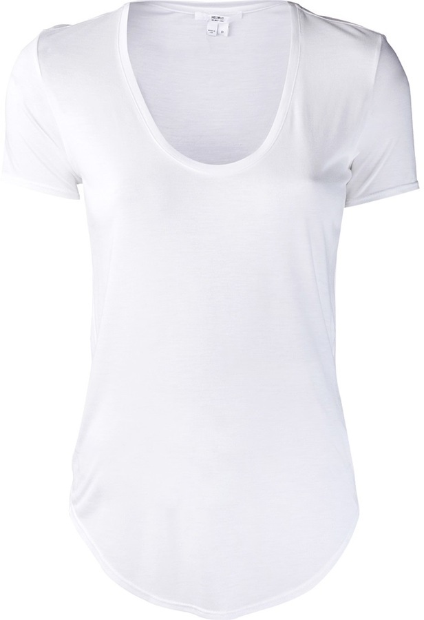 Helmut scoop neck t-shirt