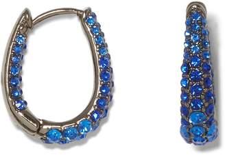 Vince Camuto Pave Oval Hoop Earrings