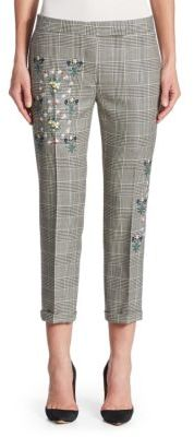 Thom Browne Embroidered Wool Trouser $1,890 thestylecure.com