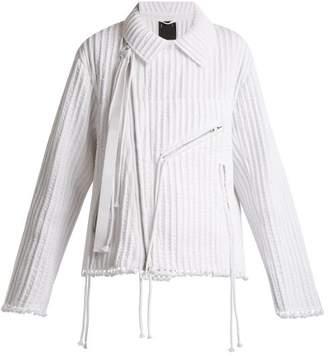 Craig Green Piped cotton biker jacket