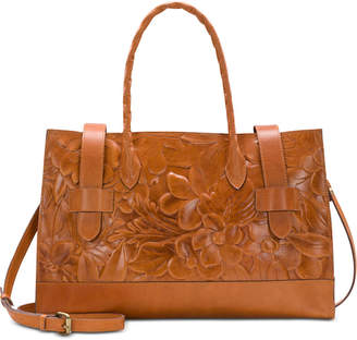 Patricia Nash Lucetta Embossed Leather Computer Tote