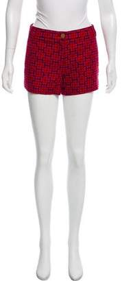 Tory Burch Knit Pattern Mini Shorts