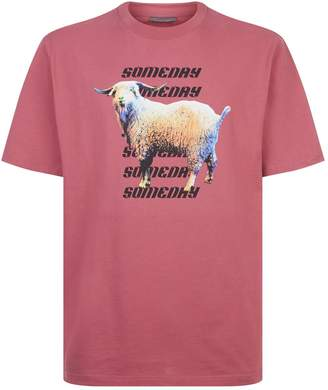 Lanvin Goat Print T-Shirt