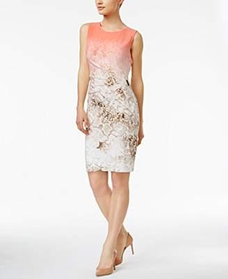 Calvin Klein Women's Sleeveless Printed Dress With Square Hardware