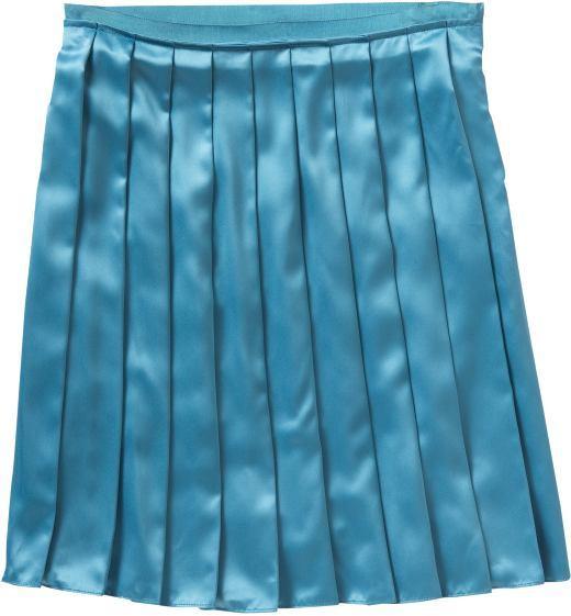 Women's Pleated Satin Skirts
