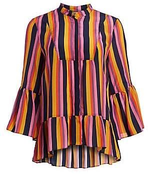 Figue Women's Livia Striped Silk Blouse