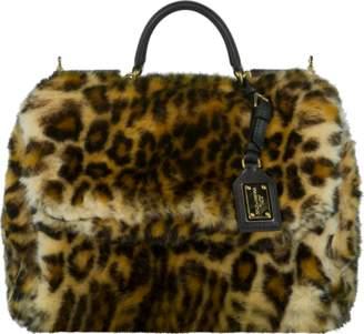 Dolce & Gabbana Furry Leopard Print Handbag