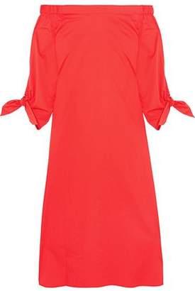 Tibi Off-The-Shoulder Cotton-Poplin Midi Dress