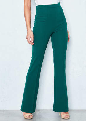 b6109139f661 Missy Empire Missyempire Nikita Emerald Green High Waist Straight Leg  Trousers