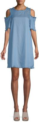 Ppla Women's Cleo Cold-Shoulder Chambray Dress