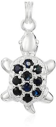 Sterling Silver Genuine Blue Sapphire Turtle Charm