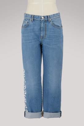 Alexander McQueen Logo cotton jeans