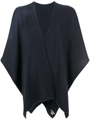 Hemisphere cashmere knitted cape