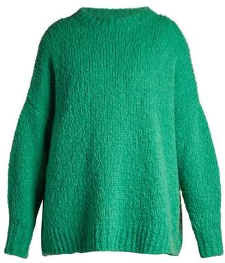 Etoile Isabel Marant Sayers Slouchy Knit Sweater - Womens - Green