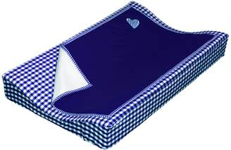 Taftan Hearts Checks Changing Pad Cover Set 72 x 44cm (Dark Blue)