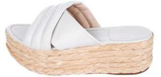 Stuart Weitzman Leather Slide Sandals