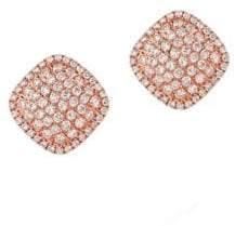 LeVian Vanilla Diamond and 14K Strawberry Gold Earrings