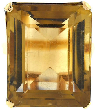 One Kings Lane Vintage 14K Gold & Smoky Quartz Ring - BRP Luxury/OKL