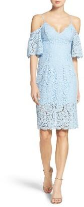 Women's Bardot Karlie Cold Shoulder Lace Midi Dress $119 thestylecure.com