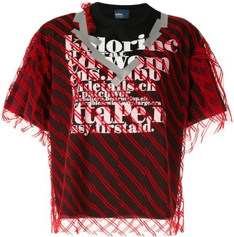Kolor double layer T-shirt