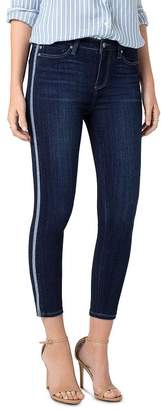 Liverpool Los Angeles Liverpool Abby Tuxedo Stripe Cropped Skinny Jeans in Freemont
