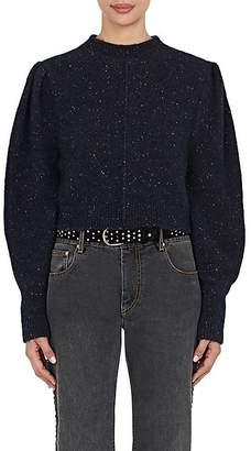 Isabel Marant Women's Elaya Baby Alpaca-Blend Crop Sweater