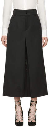 Chloé Black Crop Flare Trousers