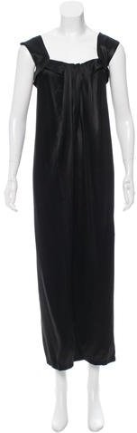 Saint Laurent Yves Saint Laurent Satin Evening Dress