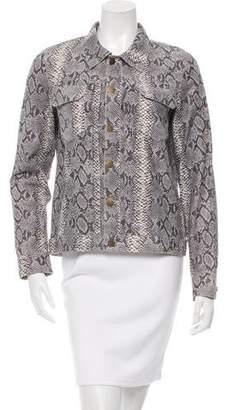 Pam & Gela Leather Python Print Jacket w/ Tags