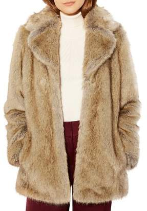 Karen Millen Faux-Fur Coat