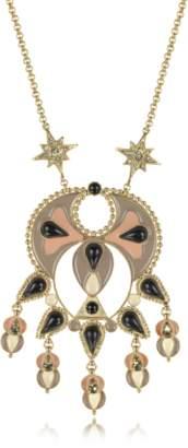 Roberto Cavalli Gold-tone and Enamel w/Multicolor Crystals Long Necklace