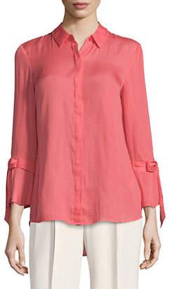 Isaac Mizrahi IMNYC Bow Bell Sleeve Buttoned Shirt