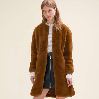 Maje Faux fur coat