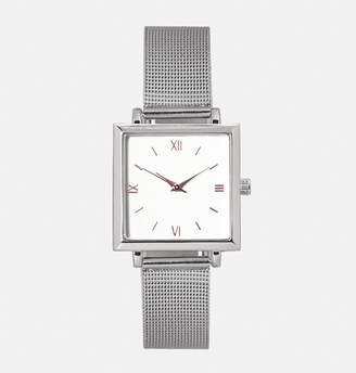 Avenue Silver Mesh Strap Watch
