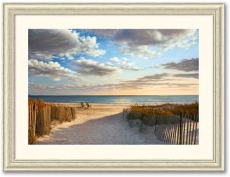 """Amanti Art """"Sunset Beach"""" Framed Art Print by Daniel Pollera"""