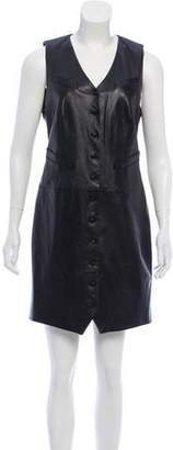 Ralph Lauren Leather Mini Dress