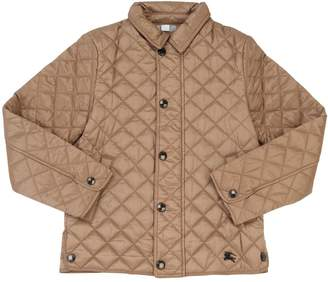 Burberry Quilted Nylon Jacket W/ Logo Details