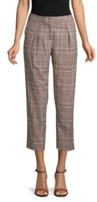 Ellen Tracy Retro Plaid Cropped Trousers
