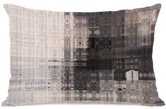 One Bella Casa Tiled Monochrome - Tan Multi 16x16 Pillow by OBC
