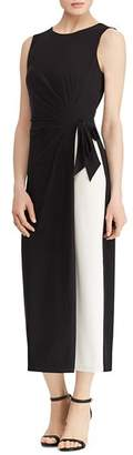 Ralph Lauren Two-Tone Jersey Dress