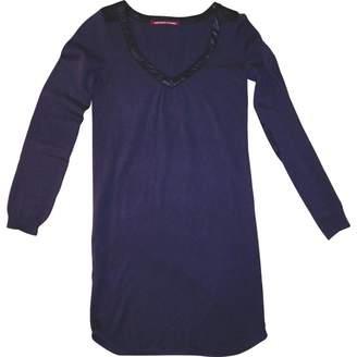 Comptoir des Cotonniers Purple Wool Dress for Women