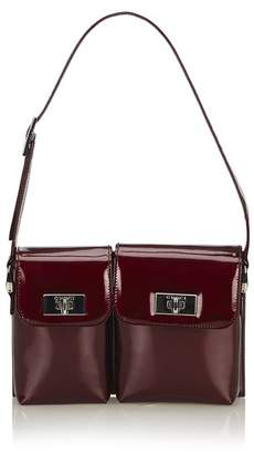 Gucci Vintage Patent Leather Baguette