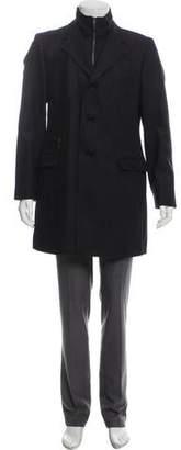 Versace Herringbone Wool-Blend Coat
