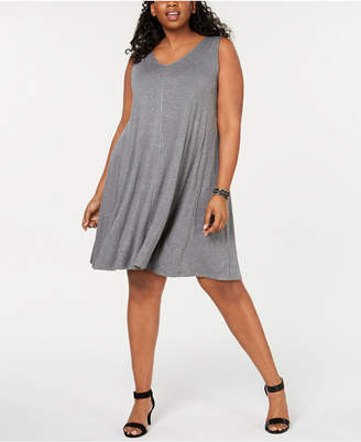 Style&Co. Style & Co Plus Size Solid Crisscross-Back Dress